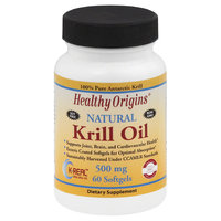 Healthy Origins - Natural Krill Oil 500 mg. - 60 Softgels
