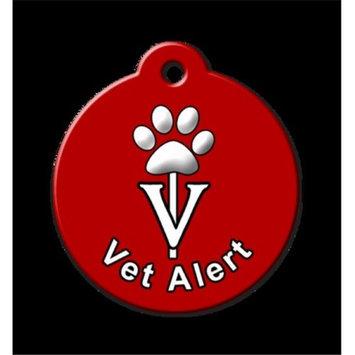 QR Code Pet ID Tag 01-VA-ST-CR Vet Alert Crimson Dog Tag