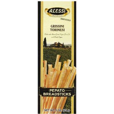 Alessi Grissini Torinesi Pepato Breadsticks, 3 oz, (Pack of 12)