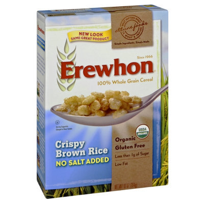 Attune Foods Erewhon Organic No Salt Added Crispy Brown Rice 100% Whole Grain Cereal