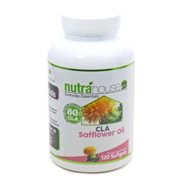 CLA Safflower Oil softgel by NutraHouse Vitamins. 120 Softgels, 80% Active Conjugated Linoleic Acid.