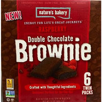 Nature's Bakery Raspberry Double Chocolate Brownie 6-2oz twin packs 2 Pack