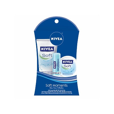 NIVEA Lip Care Soft Moments Skin Care Collection Gift Set