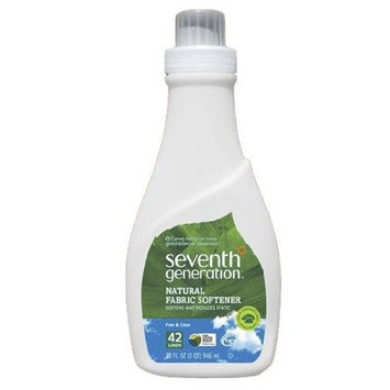 Seventh Generation Fabric Softener, Free & Clear, 32 oz Bottle (Pack of 6)