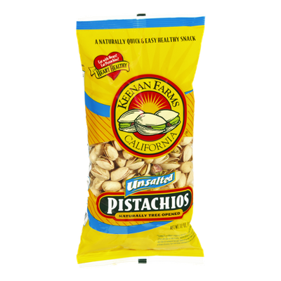 Keenan Farms California Unsalted Naturally Tree Opened Pistachios