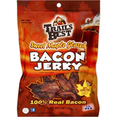 Trail's Best Sweet Maple Glazed Bacon Jerky, 5 oz