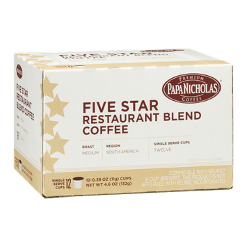 Papa Nicholas Five Star Restaurant Blend Coffee Single Serve Cups Medium - 12 CT