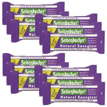 Seitenbacher Gluten Free, Natural Energizer Bar, Delicious Fruit, Nut & Chocolate Snack, 1.8-Ounce Bars (Pack of 12)