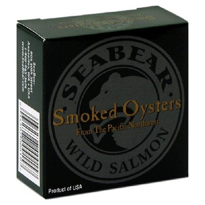SeaBear Smoked Pacific Oysters, 3-Ounce Units (Pack of 4)