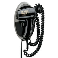 Andis 30220 Hangup 1600W Hair Dryer with Cord Hanger, Black