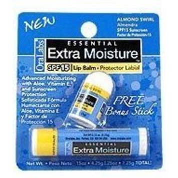 Essential Extra Moisture SPF 15 Lip Balm Almond Swirl (OraLabs)