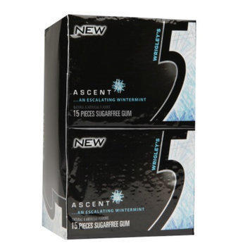 Five Sugar Free Gum, Ascent, 10 ea