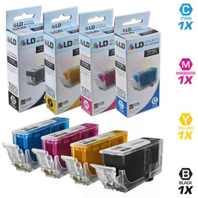 LD Compatible Replacements for Canon PGI220/CLI221 Set of 4 Inkjet Cartridges Includes: 1 2945B001 Pigment Black, 1 2947B001 Cyan, 1 2948B001 Magenta, and 1 2949B001 Yellow