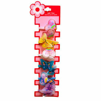 Girls' Heart and Butterfly Hair Ties