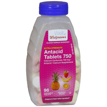Walgreens Extra Strength Tropical Fruit Antacid/Calcium Supplement Chewable Tablets