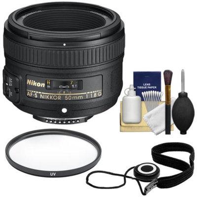 Nikon 50mm f/1.8 G AF-S Nikkor Lens with UV Filter + Accessory Kit for Digital SLR Cameras