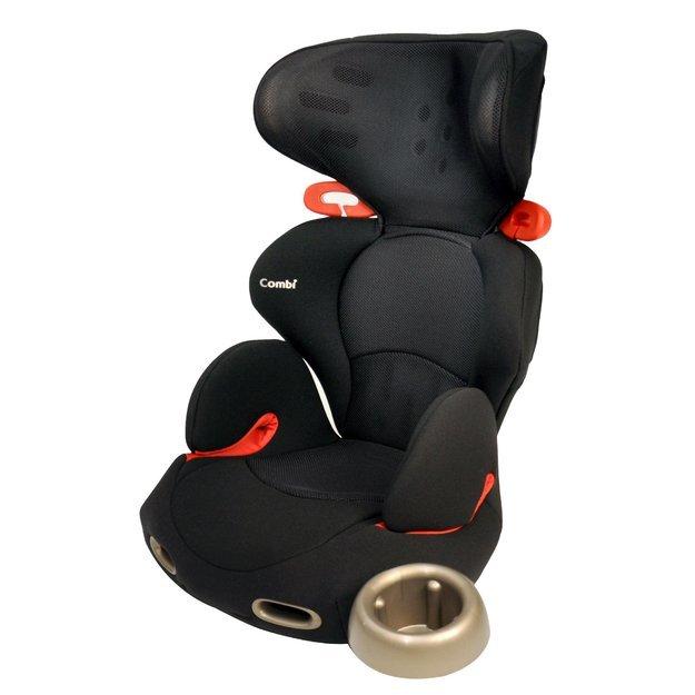 Combi Kobuk Air-Thru Booster Car Seat in Licorice