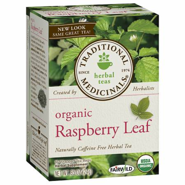 Traditional Medicinals Caffeine Free Organic Herbal Tea Raspberry Leaf