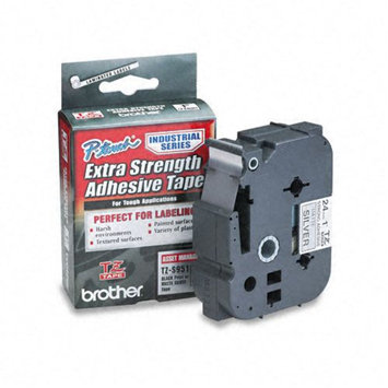 Brother International Brother Laminated Adhesive Tape, 1, Black on Silver