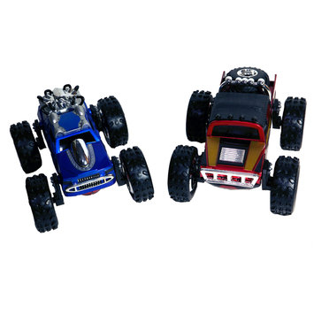 Playmakers Group Marvel Regenr8rs Spiderman and Iron Man 1:24 Scale Car Set
