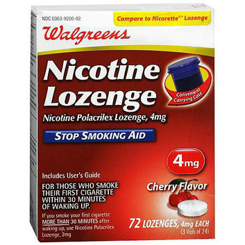 Walgreens Nicotine Stop Smoking Aid Lozenges 4 mg Cherry