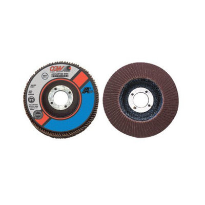 CGW Abrasives Flap Disc, A3 Aluminum Oxide, Regular - 4-1/2