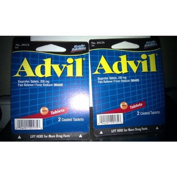 Handy Solutions Advil - 2 packs - 2 ct Coated Tablets - 200 mg