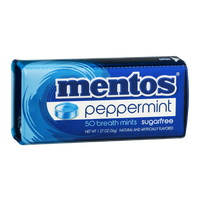 mentos Breath Mints Sugarfree Peppermint