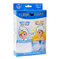 Turbie Twist Combo Pack Wet Day/Dry Day Hair Towel & Shower Cap