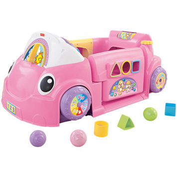 LAUGH & LEARN Fisher-Price Laugh & Learn Crawl Around Car, Pink