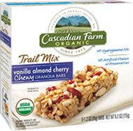 Cascadian Farm Organic Chewy Trail Mix Granola Bars Vanilla Almond Cherry