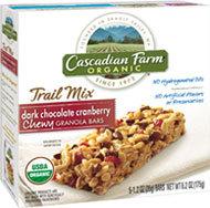 Cascadian Farm Organic Dark Chocolate Cranberry Chewy Trail Mix Granola Bar