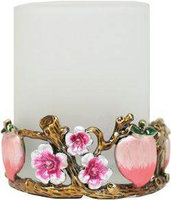 Welforth Peach Garden Candle Holder