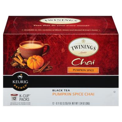 TWININGS® OF London Pumpkin Spice Chai Tea K-Cup® Pods