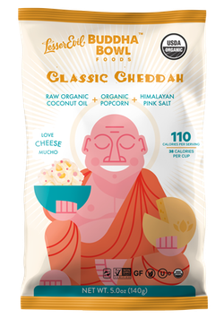 Lesser Evil Buddha Bowl Organic Popcorn Classic Cheddah
