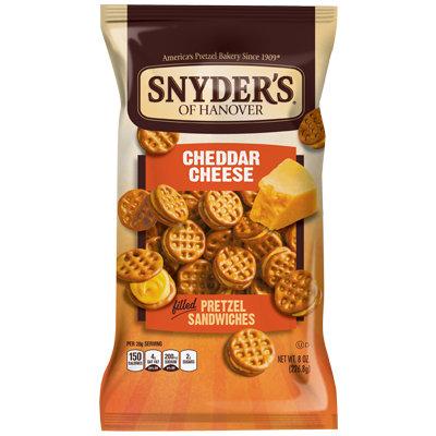 Snyder's Of Hanover Pretzel Sandwiches Cheddar Cheese