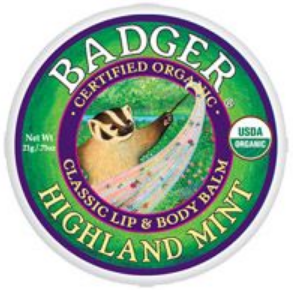 Badger Balm Lip & Body Balm Tin - Highland Mint