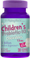Piping Rock Chewable Probiotic for Kids 30 Tablets