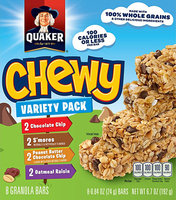 Quaker® Chewy Dipps Granola Bars Variety Pack
