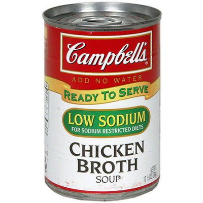 Campbell's® Low Salt Chicken Broth Soup