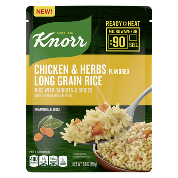 Knorr Ready to Heat Chicken & Herb Flavored Rice