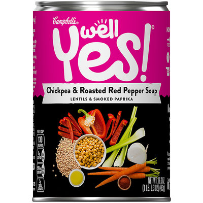 Campbell's® Well Yes! Chickpea and Roasted Red Pepper Soup