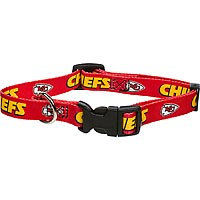 Hunter Kansas City Chiefs NFL Dog Collar (Adjustable From 8