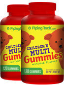 Piping Rock Children's Multi Vitamin Gummies 2 Bottles x 120 Gummies