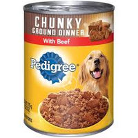 Pedigree® Chunky Ground Dinner Beef Canned Dog Food