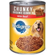 Pedigree® Chunky Ground Dinner Beef Canned Dog Food