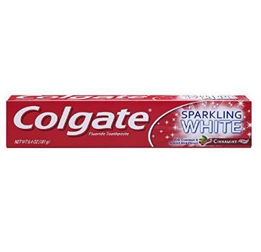 Colgate® SPARKLING WHITE® CinnaMint Fluoride Toothpaste Gel