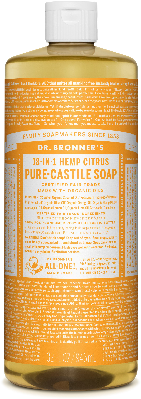 Dr. Bronner's 18-in-1 Hemp Citrus Pure - Castile Soap