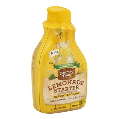COUNTRY TIME Lemonade Starter Classic Lemonade Beverage-Liquid Concentrate Bottle