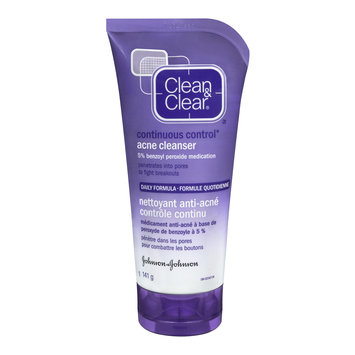 Clean & Clear® Continuous Control Acne Cleanser 5% Benzoyal Peroxide Medication